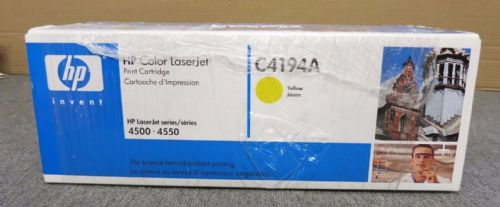 HP C4194A 640A New LaserJet Yellow Toner Printer Cartridge For Use With 4500/455